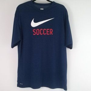 NIKE Fit Dry Men's Soccer T-Shirt Size Large